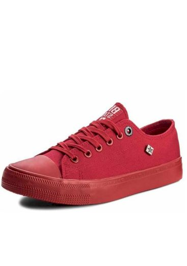 Big star dámské plátěné tenisky sneakers AA274007 red