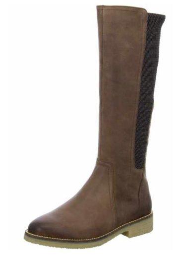 Caprice dámské kozačky na nízkém podpatku 9-25605-29 brown antic