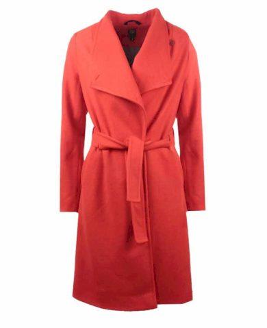 Funk´N´Soul dámský flaušový kabát trenčkot oranžový