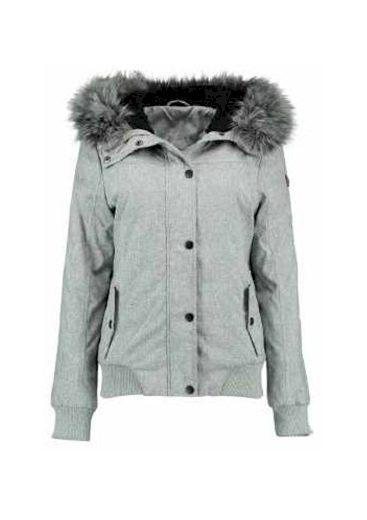 Hailys dámská bunda Marina s kapucí šedá