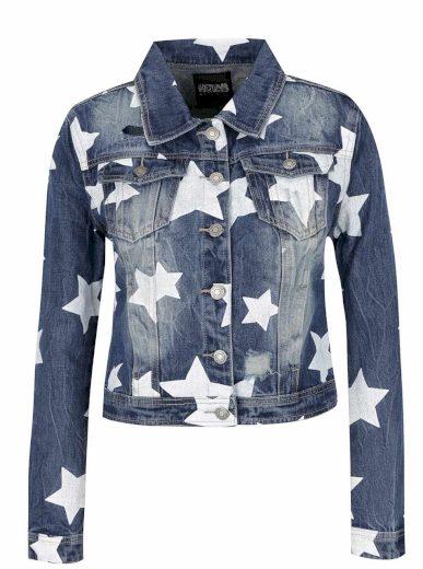 Hailys dámská jeansová bunda Alisa s potiskem modrá