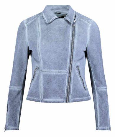 Rino Pelle dámská stretchová bunda do pasu KENDAL modrá