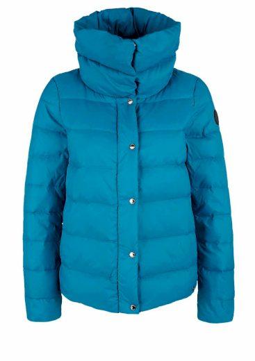 s.Oliver dámská prošívaná péřová bunda modrá