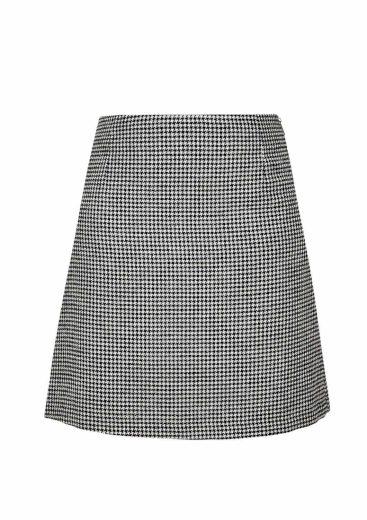 s.Oliver dámská áčková sukně se vzorem černobílá