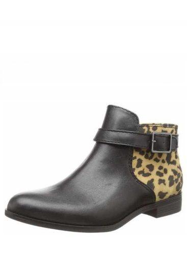 Tamaris kotníkové boty 1-25083-25 černá/leopard