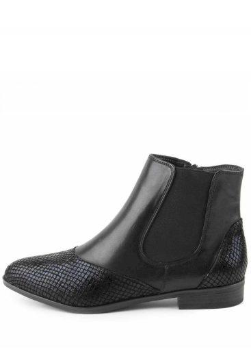 Tamaris kotníkové boty s pružnou vsadkou 1-25312-25 černá/snake