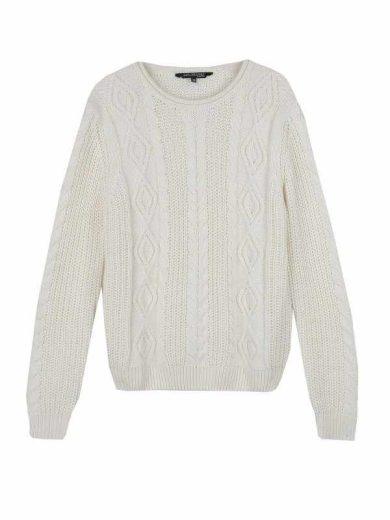 Top secret dámský pletený svetr kremový