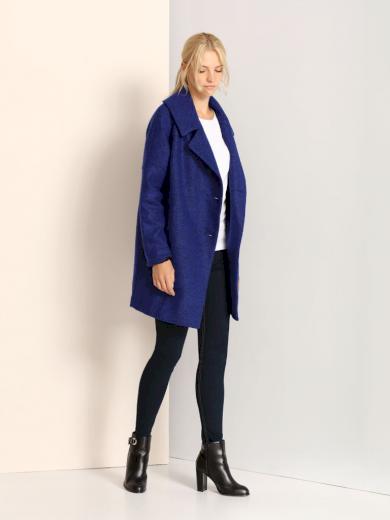 Dámský flaušový kabát TOP SECRET modrý