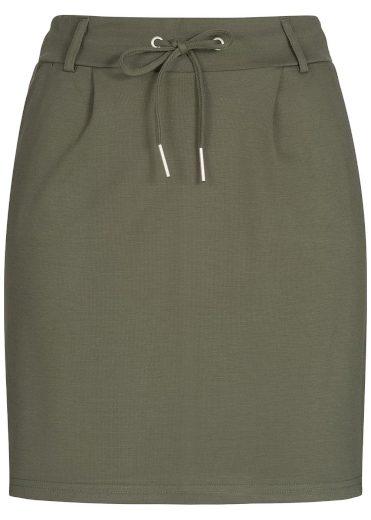 Hailys dámská tepláková pouzdrová sukně Jilla khaki