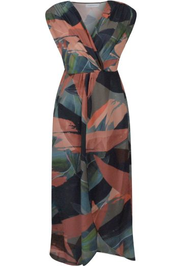 Rino&Pelle dámské zavinovací šifonové šaty Maoli terakota