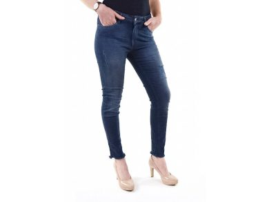 M.O.D. dámské slim džíny Sabrina s drbáním bora bora blue tmavě modré
