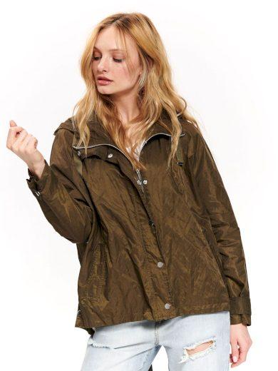Top Secret dámská lehká jarní bunda s kapucí khaki