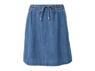 s.Oliver dámská džínová sukně s kapsami modrá