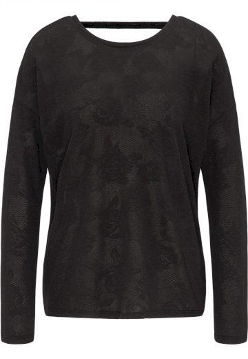 Broadway dámský lehký svetr Siba s odhalenými zády černý