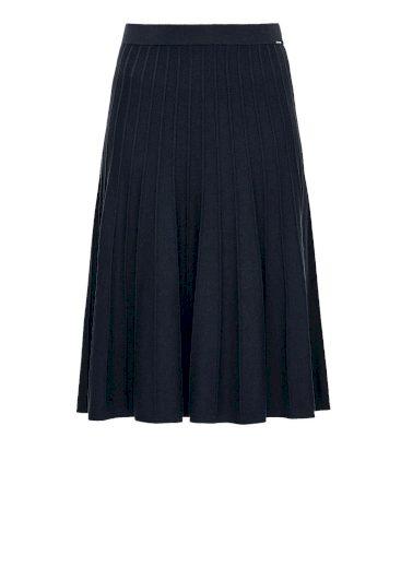 s.Oliver dámská áčková sukně se žebrováním tmavě modrá