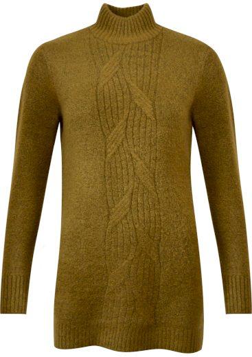 b.young dámský pletený svetr Mirelle Tunic khaki