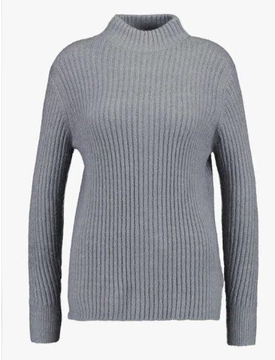 b.young dámský pletený svetr Nora Jumper šedý