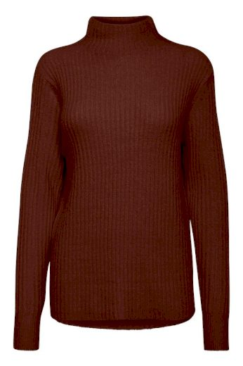 b.young dámský pletený svetr Nora Jumper tmavě hnědý