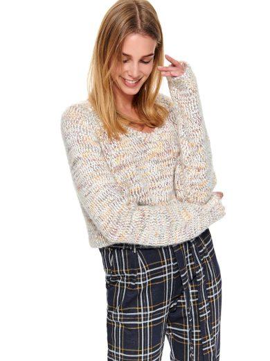 Top Secret dámský pletený melírovaný svetr béžový