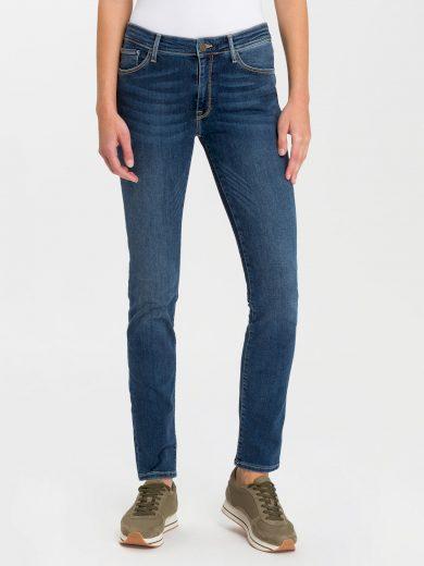 Cross Jeans dámské džíny Anya vysoký pas P489-120 modré