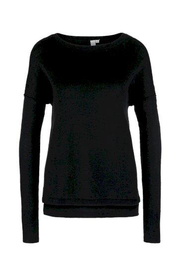 s.Oliver dámský svetr z jemné pleteniny černá