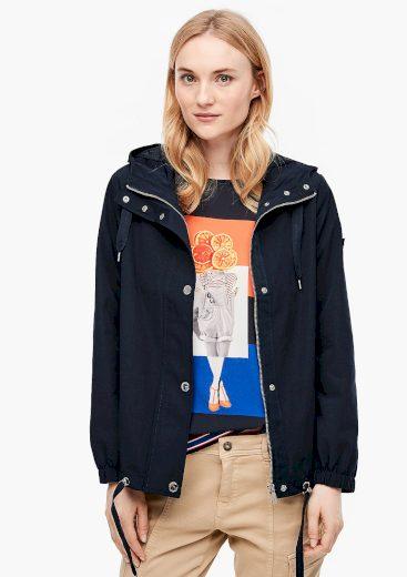 s.Oliver dámská  jarní bunda s kapucou tmavě modrá