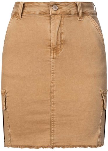 Hailys dámská džínová sukně Bailey béžová