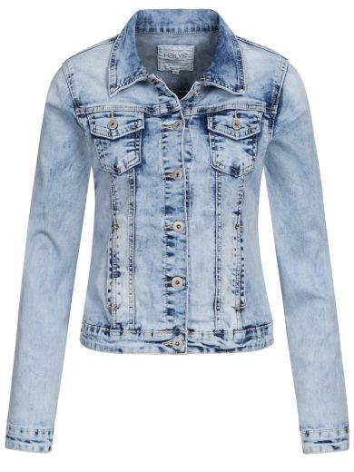 Hailys dámská jeans bunda Enny světle modrá