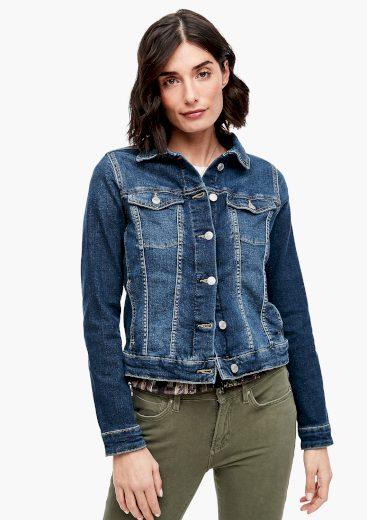 s.Oliver dámská džínová bunda tmavě modrá