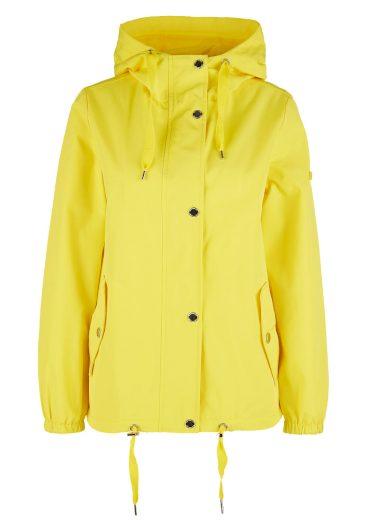 s.Oliver dámská jarní bunda s kapucou žlutá