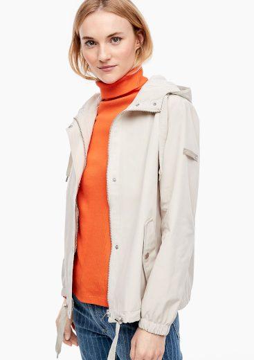 s.Oliver dámská jarní bunda s kapucou béžová