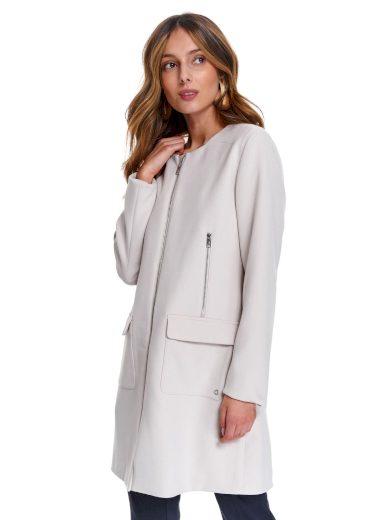 Top Secret dámský jarní propínací kabát béžový
