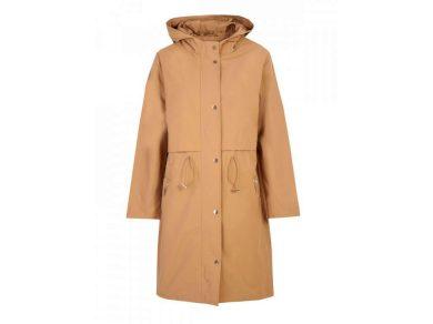 Top Secret dámský jarní propínací kabát s kapucí béžový