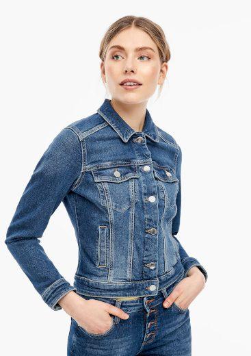 Q/S s.Oliver dámská džínová bunda modrá