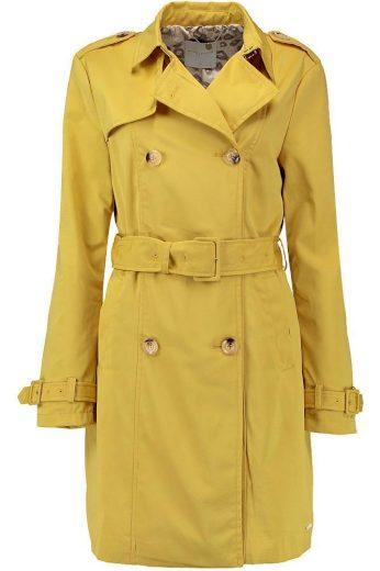 Rino Pelle dámský jarní kabát trenčkot Jaloe žlutý