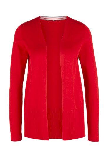 s.Oliver dámský lehký svetr z jemné pleteniny červený