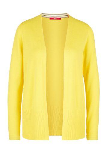 s.Oliver dámský lehký svetr z jemné pleteniny žlutý