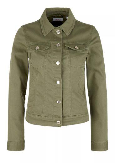 s.Oliver dámská džínová bunda khaki