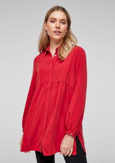 s.Oliver dámská košilová tunika červená