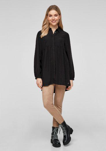 s.Oliver dámská košilová tunika černá