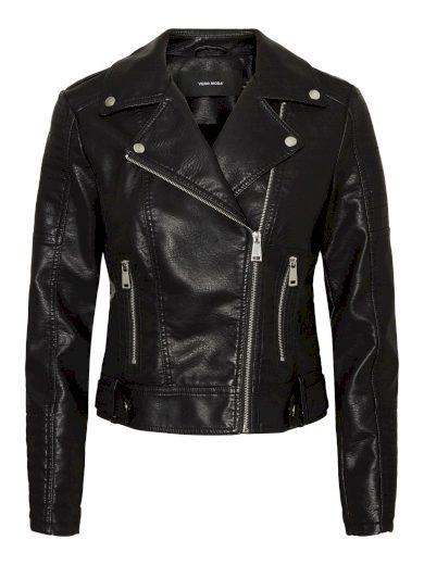 Vero Moda dámská koženková bunda křivák černá