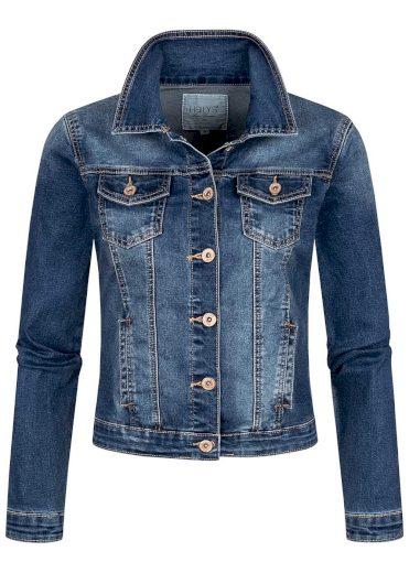 Hailys dámská jeans bunda Enny modrá
