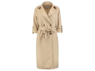 Hailys dámský jarní kabát Camina s vázačkou béžový