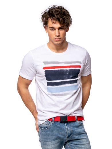 Heavy Tools pánské triko s potiskem MEKE bílé