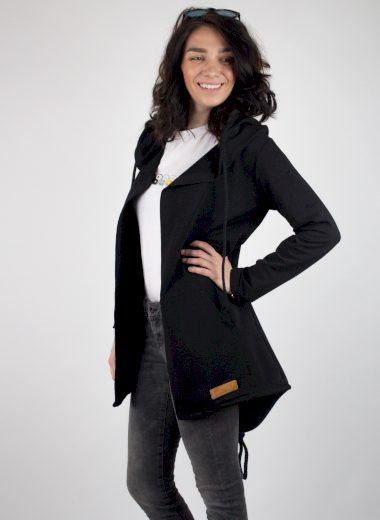 Funk´N´Soul dámský sportovní kardigan s kapucí černý