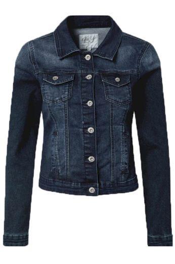 Hailys dámská jeans bunda Enny tmavě modrá