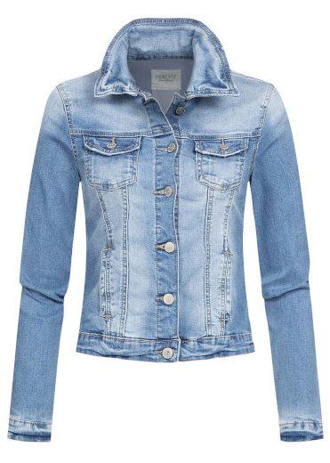 Hailys dámská jeans bunda Enny středně modrá