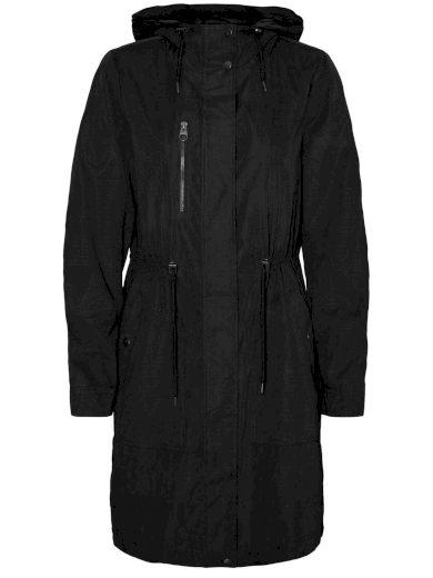 Vero Moda dámská jarní bunda Anke s kapucí černá