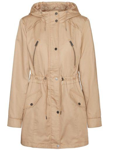 Vero Moda dámská parka Abbyfanna s kapucí béžová