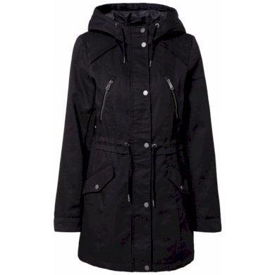 Vero Moda dámská parka Abbyfanna s kapucí černá